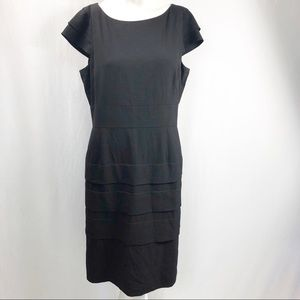 Tahari Classic Black Dress